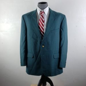 Stafford mens 46 R green sport coat